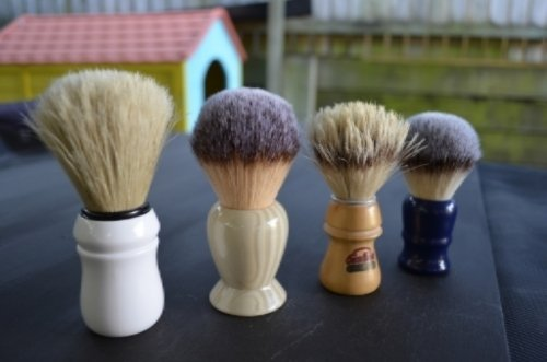 Four Shaving Brushes