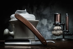 Straight razor with over equipment