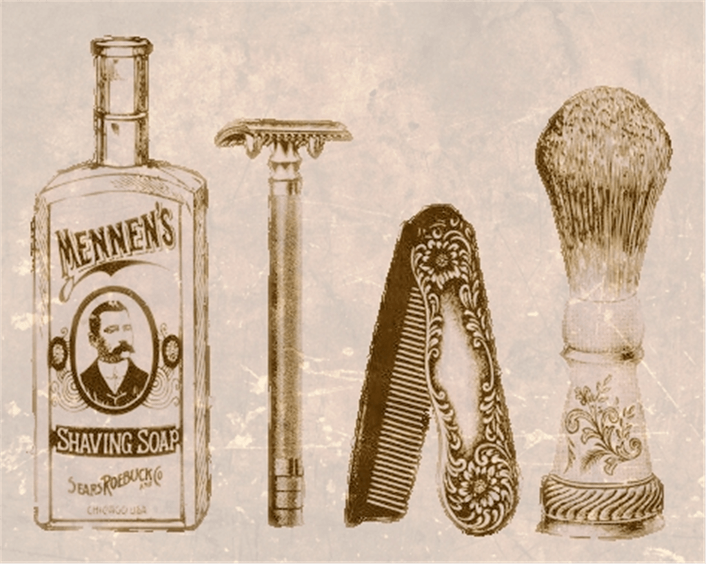 vintage best men's shaving kit/