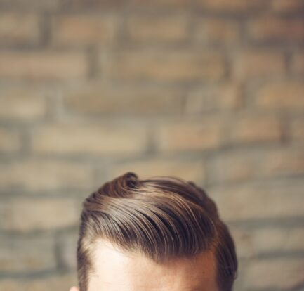 Slicked Back Salon Hairstyle